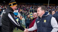 Brian Cody with Davy Fitzgerald