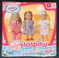 Zapf My Mini Baby Born Hospital 3 5 Inch Dolls New in Dolls & Bears, Dolls, Clothing & Accessories, Baby Dolls & Accessories, Dolls | eBay