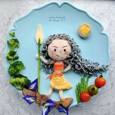Moana food art by Michelle Lim (@foodmakesfun)
