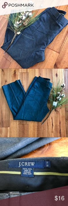 J. Crew dark gray dress pants sz 31/30 100% wool These dark gray 100% wool J. Crew dress pants are the perfect pants for work in the winter. It is in EUC with no tears, rips, or stains. Bundle with other items from my closet for the best deal! J. Crew Pants Dress