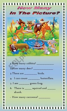 English Worksheets For Kids, English Games, English Lessons For Kids, Esl Lessons, English Fun, English Writing, First Grade Reading Comprehension, Picture Comprehension, Phonics Reading
