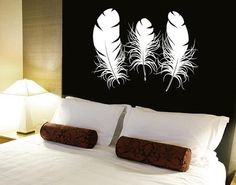 Wall Decal Vinyl Sticker Decals Art Decor Design  Feathers Sweet Dreams Lettering Family Love Headboard Gift Dorm Bedroom Nursery(r1067)