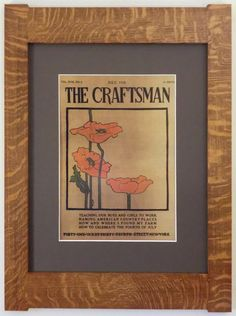 Hey, I found this really awesome Etsy listing at https://www.etsy.com/listing/194429963/the-craftsman-poppies-mission-style-art