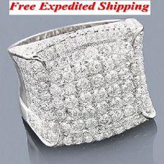14K White Gold Over Men's Round Diamond Wedding Engagement Pinky Ring Band 3.0CT #Aonedesign #WeddingBand