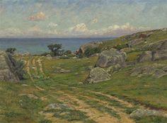 """Old Road, Annisquam,"" Edmund Elisha Case, oil on canvas, 22 x 30"", private collection."