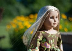 "Ruffled 70s Style Tunic American Girl Doll Shirt 18"" Inch Back to School Fall Retro Top in Rose Bouquet by PattiKuz"