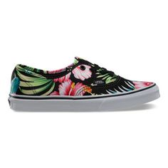Hawaiian Floral Authentic Tropical fabric sneakers