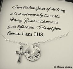Christian Hand stamped necklace I am HIS by SoBlessedDesigns, $39.00
