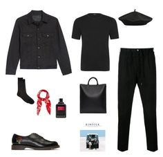 """Untitled #44"" by rayensulistiawan on Polyvore featuring Naked & Famous, Estnation, M&Co, Undercover, Barneys New York, Yves Saint Laurent, Givenchy, A.P.C., men's fashion and menswear"