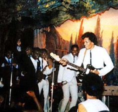 Jimi with The Isley Brothers