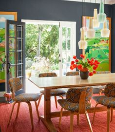 Inspiration: an English Cottage in L.A.  My floors are this color and my kitchen is light gray!