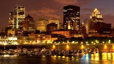 Night view from the Old Port in Montreal. #Canada