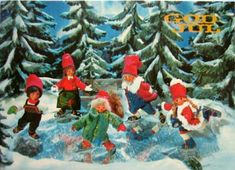 Julekort Ivo Caprino Woolen Clothes, Christmas Postcards, Gnomes, Norway, Roots, Scandinavian, Painting, Art, Art Background