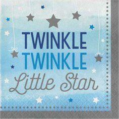 Little Star Blue Lunch Napkins (16 Pack)