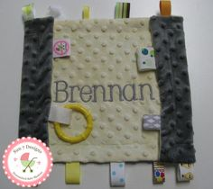 Custom designed personalized baby blankets and other baby products from www.sun7designs.com