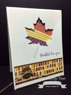 September 14, 2014 The Stamp Doc: Good Greetings Hostess, Color Me Autumn DSP, Color Me Autumn Designer Washi Tape