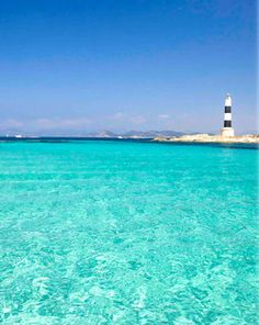 Blue waters at Formentera, Islas Baleares – Spain Places To Travel, Places To See, Wonderful Places, Beautiful Places, Formentera Spain, Nature Beach, Balearic Islands, Spain And Portugal, Menorca