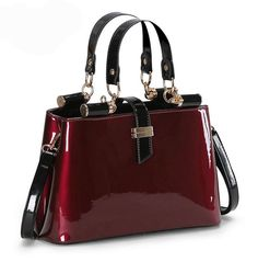 Cheap bag stitch, Buy Quality bag netbook directly from China bag gu Suppliers: SUNNY SHOP High quality Aristocratic women messenger bags shiny patent leather shoulder bag fashion wedding party bag bolsos Fashion Handbags, Purses And Handbags, Fashion Bags, High Fashion, Mochila Hippie, Sacs Design, Latest Bags, Cheap Bags, Beautiful Bags
