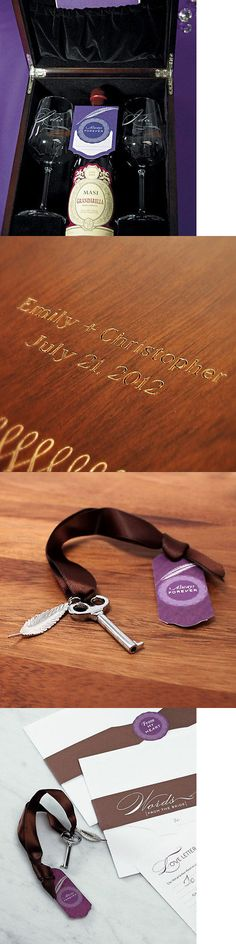 Other Wedding Supplies 3268: Love Letter Unity Ceremony Wine Box Set Keepsake -> BUY IT NOW ONLY: $84.99 on eBay!