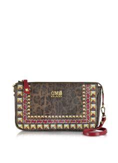 Class Roberto Cavalli Sigrid Animal Print Small Bag w/Shoulder Strap