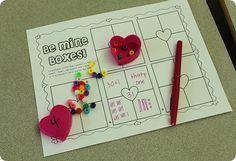 Valentine's Day number sense activity