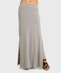 Look at this #zulilyfind! Heather Gray Cinema Maxi Skirt #zulilyfinds