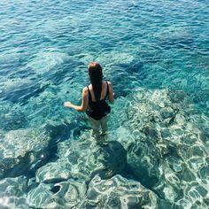Perissa Beach, Santorini, Greece. More