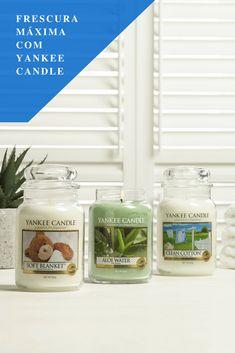 Sinta a frescura destas fantásticas fragrâncias Yankee Candle