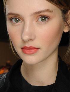 fall 2011 faded fuschia lips/rosy cheeks/sheer tan shadow