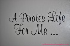 Thrifty Pirate Bedroom - Wall Quote