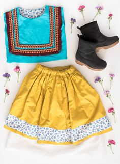 Today we are taking inspiration from Frida Khalo to create a wearable look for little girls