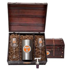 Tennessee Vols Team Logo Wine Gift Set *** You can get additional details at the image link. (Amazon affiliate link)
