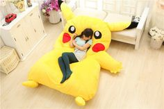 "Pin for Later: 8 Gifts That Are What Geek Dreams Are Made Out Of A Gigantic Pokémon Pikachu Bed ""Because it's a gigantic Pokémon Pikachu bed ($207)."""