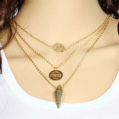 0467f764335 18K Gold Plated Butterfly Coin Arrow Pendant Necklace  7.95+Free Shipping.  Moda Takı