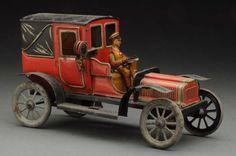 German Tin Litho Carette Taxi. : Lot 193