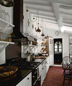 Open shelving is something I love! I think with a chef in the house it would be a great idea!