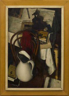 Dick Ket (Netherlands 1902–1940), Stilleven met rode lap, oil/canvas, 1933. Museum Arnhem, Arnhem, Netherlands.