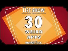 30 Weird Apps That Really Exist | Mental Floss -- Icelandic app for dating that ensures you aren't related