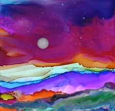 Alcohol Inks On Glass Demo | There's been a lot of interest in dreamscaping with alcohol Inks