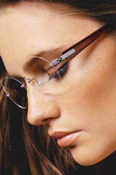 Air Titanium, Lindberg Eyewear, Spirit, Spectech in Santa Monica, California. Womens Prescription Glasses, Womens Glasses, Ladies Glasses, Over 50 Womens Fashion, Fashion Women, Cheap Sunglasses, Champagne Glasses, Eyeglasses For Women, Eye Glasses