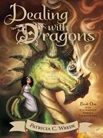 Dealing with Dragons : The Enchanted Forest Chronicles, Book One by Patricia C. Wrede Princess Cimorene, the daughter of a very proper king, runs away to live with a very powerful dragon, Kazul. Best Fantasy Book Series, Fantasy Books, Fantasy Characters, Good Books, Books To Read, Free Books, Dragon Series, Mighty Girl, Fantasy Fiction