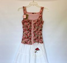 Romantic Dress  Shabby Clothes  Praire Girl by AmadiSloanDesigns, $72.00