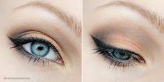 Dressed in Mint: make up. - orange + brown