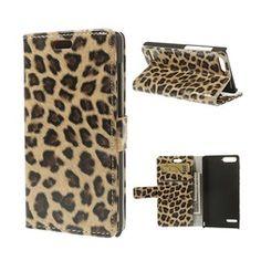 Nature Skin (Leopard) Huawei Ascend P7 Mini Flip-Fodral