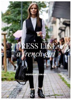 As francesas são conhecidas por seu estilo impecável e chic sem esforço. As editoras do OQVestir elaboraram 5 dicas para adotar esse look. E acredite, alcançar esse grau máximo da elegância é mais fácil do que parece. Clique na foto e descubra! #blogoqv #oqvestir #frenchstyle #ootd