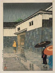 Uchiyamashita, Okayama, from the series Selected Views of Japan (Nihon fûkei senshû), Japanese, Taishô era, 1923 (Taishô 12)  Artist Kawase Hasui, Japanese, 1883–1957, MFA