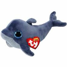 d7ba5de94b8 Pyoopeo Ty Beanie Boos Echo Grey Dolphin Plush Regular Soft Big-eyed  Stuffed Animal Collection Doll Toy with Heart Tag(China)