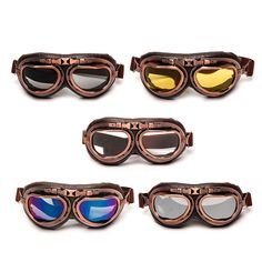 Steampunk copper glasses Optically correct clear lens which is durable and light weight Adjustable Strap.Top selling items, you can visit our store for more:) Steampunk Motorcycle, Motorcycle Goggles, Steampunk Goggles, Buy Motorcycle, Motorcycle Types, Motorcycle Quotes, Classic Car Insurance, Aviator Glasses, Paintball