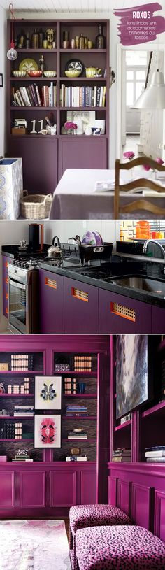 purple cabinets | armários roxos #decor #home #casa #roxo