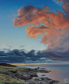 """Ron Parker - Harling Point Dawn - oil on canvas - 36"""" x 30"""""""